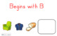 SMART Board Activity-Begins with B