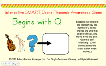 SMART Board Activity-Begins with Q