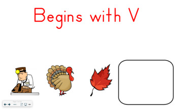 SMART Board Activity-Begins with V