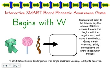 SMART Board Activity-Begins with W