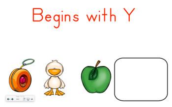 SMART Board Activity-Begins with Y