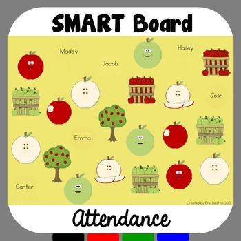 SMART Board Attendance: Apples