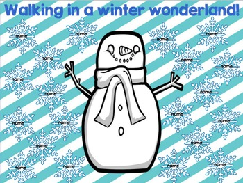 "Interactiv Attendance Flipchart ""Walking in a Winter Wonderland""Interactive"