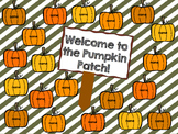 "InteractiveAttendance Flipchart ""Welcome to the Pumpkin Patch!"""