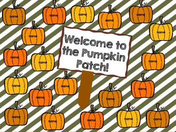 "InteractiveAttendance Flipchart ""Welcome to the Pumpkin Patch!"""