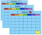 SMART Board Calendar Math for Kindergarten Winter Bundle (Dec., Jan., Feb.)