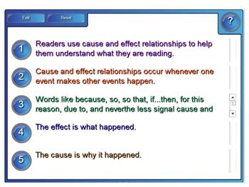 SMART Board Cause and Effect Reading Minilesson