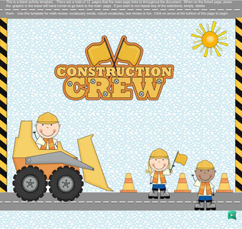 SMART Board  Construction Theme Review Template