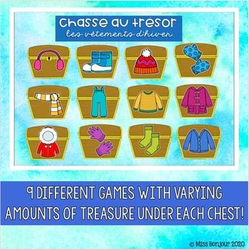 SMART Board French Vocabulary Treasure Hunt: Winter Clothing