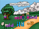 -old, ost, ild ,ind Orton Gillingham (RTI /Dyslexia)