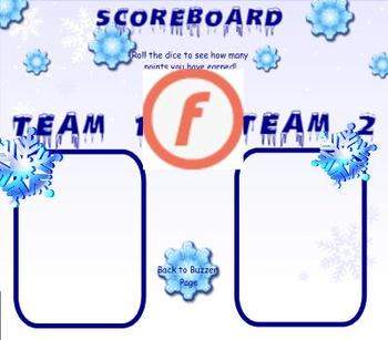 SMART Board Instant Review Game- Snowflake Theme