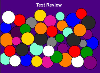 SMART Board Koosh Ball Test Review Game (Customizable)