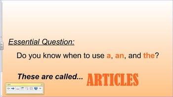 SMART Board Lesson - Articles