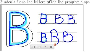 SMART Board Letter Writing Practice