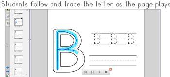 SMART Board Letter Writing Practice
