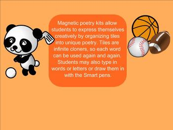 SMART Board: Magnetic Poetry: Creative Writing: Sports: English: Smartboard