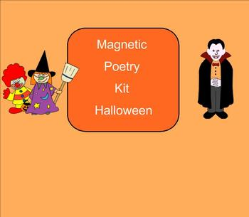 SMART Board: Magnetic Poetry: Halloween: English: Smartboard