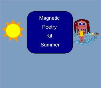 SMART Board: Magnetic Poetry: Summer: English: Smartboard