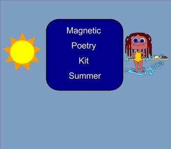 SMART Board: Magnetic Poetry: Summer: English: Smartboard