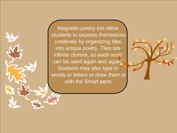 SMART Board: Magnetic Poetry: Writing: Fall: English: Smartboard