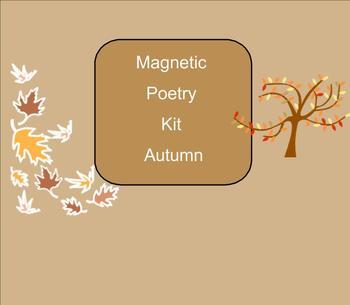 SMART Board: Magnetic Poetry: Writing: Fall: English: Smartboard