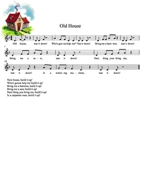SMART Board Music Lesson: low la practice with Old House