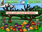 Open and Closed Syllables Activities Smart Notebook