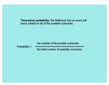 SMART Board Probability Lesson - Theoretical vs. Experimental
