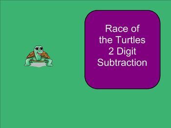 SMART Board: Race Turtles: Basic Game: Math: 2 digit Subtr