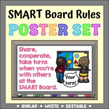 SMARTBoard Rules Poster Set