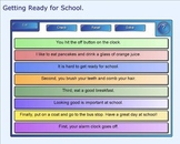 SMART Board: Sequencing Paragraph: Getting Ready for Schoo