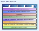 SMART Board: Sequencing Paragraph: How to Make Your Bed: S