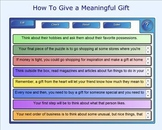 SMART Board: Sequencing Paragraph Practice: How To Give a Meaningful Gift