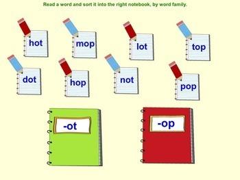SMART Board Sorting of CVC Words