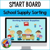 SMART Board Sorting of School Supplies