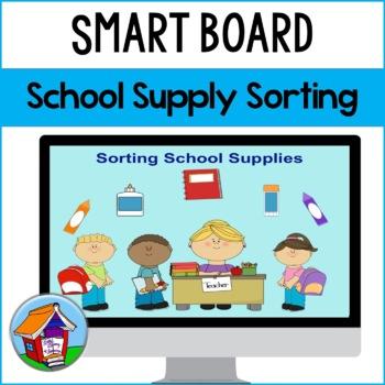 SMART Board Sorting of School Supplies
