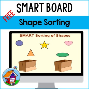 SMART Board Sorting of Shapes