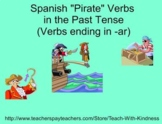 "SMART Board Spanish ""Pirate"" Verbs in Past Tense"