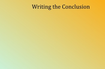 SMART Board - Writing the Conclusion