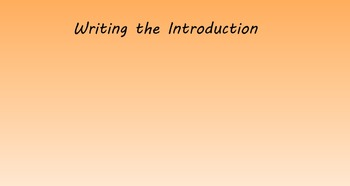 SMART Board - Writing the Introduction