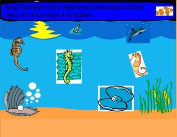 SMART Board:Seymour the Clownfish: Single Digit Multiplication: Math: Smartboard