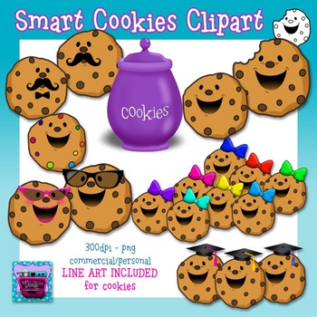 Cookies Clipart and Line Art