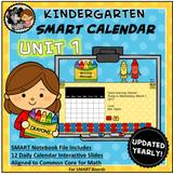SMART Calendar - Kindergarten UNIT 1 (for SMART Boards)