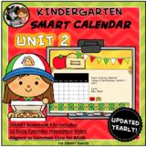SMART Calendar - Kindergarten UNIT 2 (for SMART Boards)