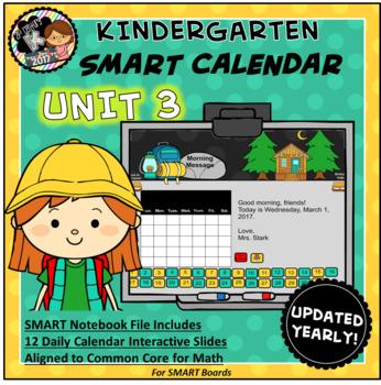 SMART Calendar - Kindergarten UNIT 3 (for SMART Boards)