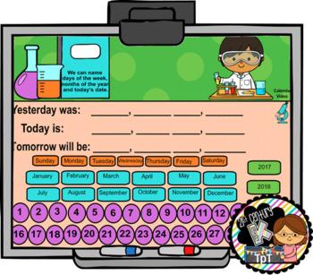 SMART Calendar - Kindergarten UNIT 7 (for SMART Boards)