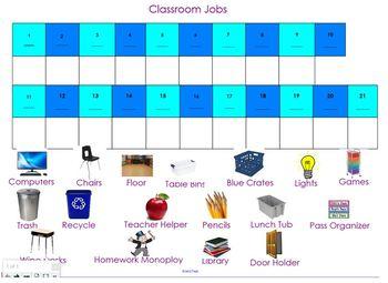 SMART Classroom Job Chart