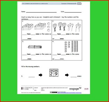 SMART Files for NYS 1st grade Math Module 4 Lessons in Topic A (1-6)