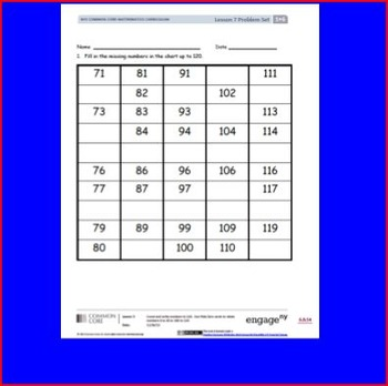 SMART Files for NYS 1st grade Math Module 6 Lessons in Topic B (3-9)