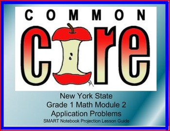 SMART Files for NYS Math Module 2 Lessons in Topic D for First Grade